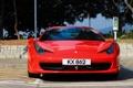 Картинка Ferrari, суперкар, red, феррари, 458, передок, Hong Kong