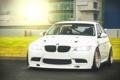 Картинка BMW, white, GT-R, блик, front, Sedan, E90