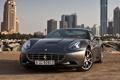 Картинка серый, фон, Феррари, Калифорния, Ferrari, суперкар, California