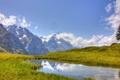 Картинка лето, небо, пейзаж, горы
