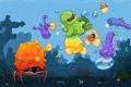 Картинка рыбы, осьминог, мозила, мультипликация