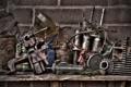 Картинка гараж, фон, масло