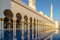 Картинка архитектура, ОАЭ, Абу-Даби, минарет, мечеть шейха Зайда