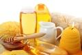 Картинка свеча, полотенце, молоко, мед, honey, milk, гели