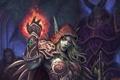 Картинка магия, демон, рога, эльфийка, world of warcraft, sylvanas, windrunner