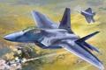 Картинка авиация, истребитель, самолёт, raptor, F-22A