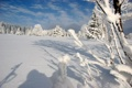 Картинка зима, лес, снег, горы, Шумава, national park Šumava
