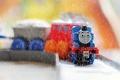 Картинка дождь, игрушка, поезд