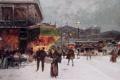 Картинка зима, снег, Париж, EUGENE GALIEN-LALOUE