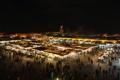Картинка Марракеш, площадь, Марокко, ночь, базар, огни
