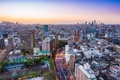 Картинка город, дома, панорама, Tokyo, Skyline, Dusk
