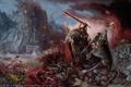 Картинка смерть, добро, меч, молот, зло, warhammer