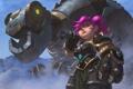 Картинка девушка, механизм, робот, динозавр, арт, гном, Dinobot