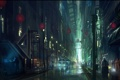 Картинка ночь, город, будущее, люди, фантастика, арт, by andreasrocha