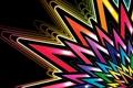 Картинка лучи, абстракция, обои, звезда, цвет, радуга, лепестки