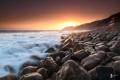 Картинка закат, камни, побережье, природа, море