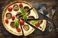Картинка баклажаны, пицца, помидоры