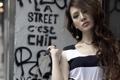 Картинка девушка, стена, Stargaze Ma