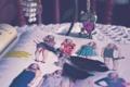 Картинка сова, серьги, перья, украшение, цепочка, журнал, мода