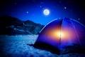 Картинка night, stars, camping tent