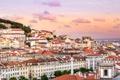 Картинка склон, небо, Португалия, дома, Лиссабон