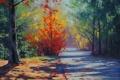 Картинка рисунок, арт, artsaus, blue mountains autumn