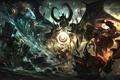 Картинка оружие, арт, монстры, битва, dota, демоны