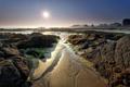 Картинка пляж, водоросли, пейзаж, природа, камни