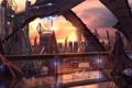 """Картинка город, в капюшоне, высотки, мир будущего, """"The city of lights"""", автор Christian Hecker (ник Tigaer)"""