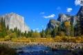 Картинка осень, лес, небо, горы, природа, парк, река