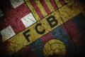 Картинка футбол, лого, грандж, fc barcelona