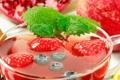 Картинка еда, клубника, сок, фрукты, мята, смородина