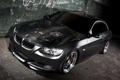 Картинка черный, bmw, бмв, автомобиль, 335i, трешка