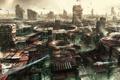 Картинка космос, машины, город, здания, корабли, space, planet