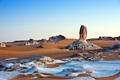 Картинка песок, пейзаж, камни, пустыня