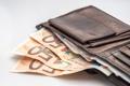 Картинка money, euros, wallet