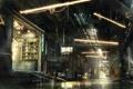 Картинка ночь, улица, арт, киберпанк, concept art, Deus Ex: Mankind Divided