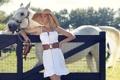 Картинка платье, лошадь, белое, девушка, Ana Hickmann, пояс, модель