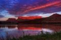 Картинка закат, горы, озеро, Utah