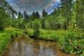 Картинка дорога, вода, природа, фото, HDR, Германия, Бавария
