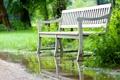 Картинка парк, скамья, лето