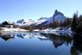 Картинка зима, снег, горы, озеро, Италия, Italy, Dolomites