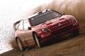 Картинка Красный, Авто, Пыль, Спорт, Машина, Скорость, Поворот