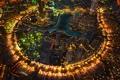 Картинка пейзаж, ночь, огни, дома, Дубай, ОАЭ