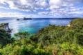 Картинка облака, мыс, небо, океан, New Zealand, море, скала