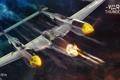 Картинка небо, самолет, стрельба, Lockheed P-38 Lightning, военная, War Thunder, Gaijin Entertainment