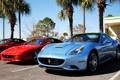 Картинка красный, Ferrari, суперкар, California, Spider, F355