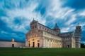 Картинка небо, облака, башня, Италия, собор, Пиза