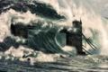 Картинка волна, лондон, цунами, 2012, тауэрский мост