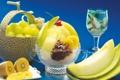 Картинка десерт, фрукты, киви, дыня